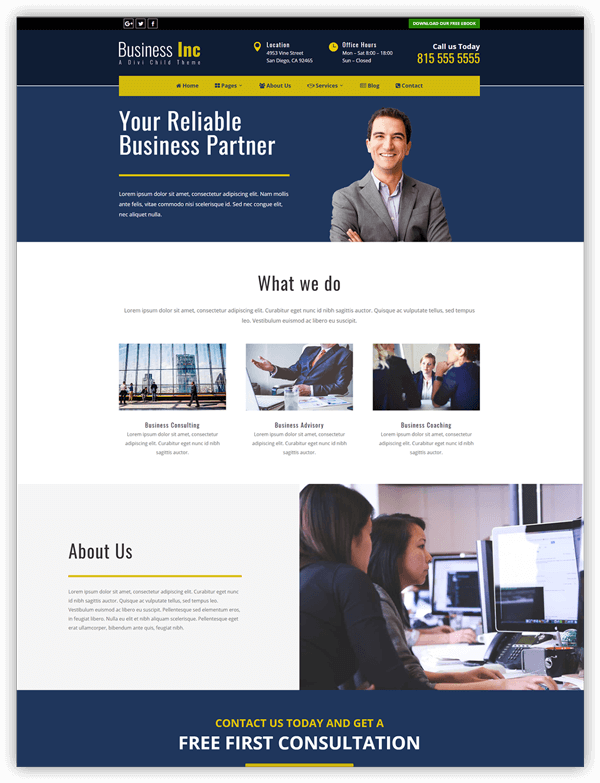 Business Inc child Theme