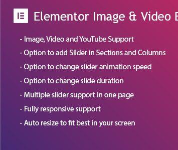 Elementor Background Image & Video Slider